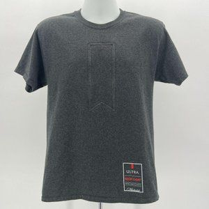 Champion Michelob Ultra Brew Camp Beer Gray Tee M